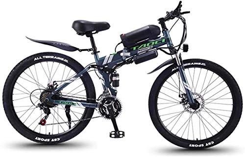 Ebikes Bicicletas eléctricas rápidas para adultos Bicicleta eléctrica plegable de montaña, bicicletas de nieve de 350W, batería de iones de litio 36V 8AH extraíbles para, adulto premium de suspensión