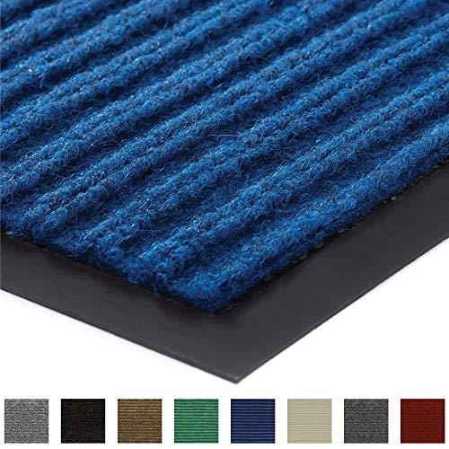 Gorilla Grip Original Low Profile Rubber Door Mat, 29x17, Heavy Duty, Durable Doormat for Indoor and Outdoor, Waterproof, Easy Clean, Home Rug Mats for Entry, Patio, High Traffic, Blue