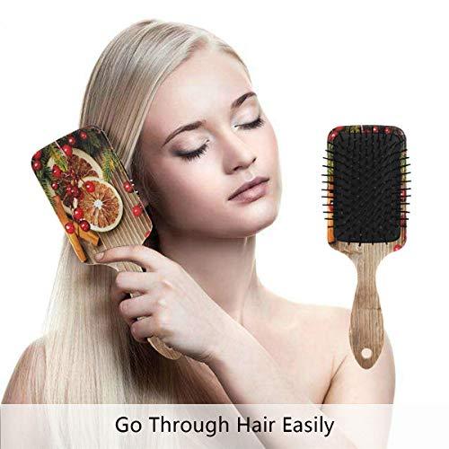 Lebkuchenmann Haarbürste, umweltfreundlich, zum Entwirren der Haarbürste für Frauen, Männer und Kinder, reduziert Frizz und Massage der Kopfhaut