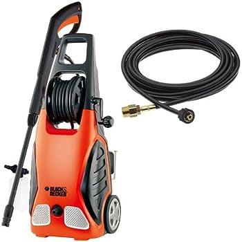 ブラックアンドデッカー 高圧洗浄機 1200W ワゴンプラス+8m延長高圧ホース オレンジ・黒 PW1700SPE