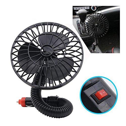 Winomo Mini-Ventilator fürs Auto, 12 V, tragbar, elektrisch, mit geringer Geräuschentwicklung, 360 Grad, drehbar, verstellbar, für den Sommer, Kühlung