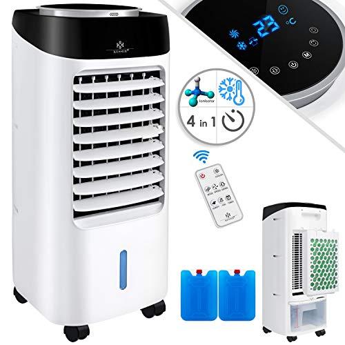 KESSER® 4in1 Mobile Klimaanlage | Fernbedienung | Klimagerät | Ventilator Klimaanlage | 7 L Tank | Timer | 3 Stufen | Ionisator Luftbefeuchter | Luftkühler | Schwarz/Weiß