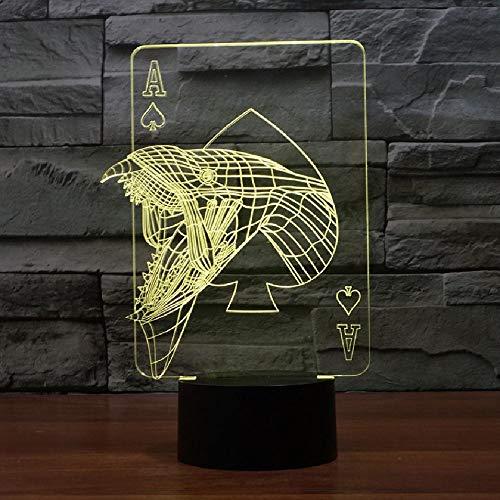 3d visuelle schlafzimmer nachttisch dekor nachtlicht casino poker monster tisch schreibtischlampe usb 7 farbwechsel stimmung leuchte geschenke