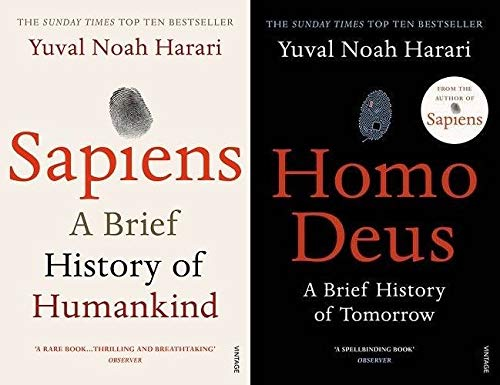 BY [Yuval Noah Harari] A Brief History of Humankind Sapiens & Homo Deus: A Brief History of Tomorrow[Paperback]