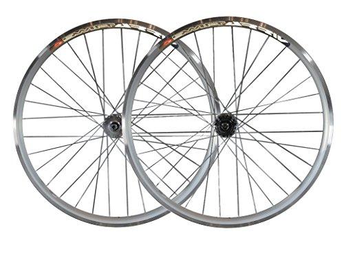 Laufradsatz für Räder mit festem Gang ohne Gangschaltung, 30-mm-Reifen mit Joytech Flip-Flop-Track-Naben, JOYTECH Flip Flop, silber, 28