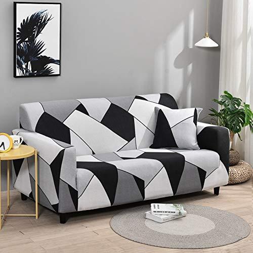 WXQY Fundas de Spandex para sofá para Sala de Estar, Funda elástica para sofá, Fundas para sillón, Protector de Muebles, A1, 3 plazas