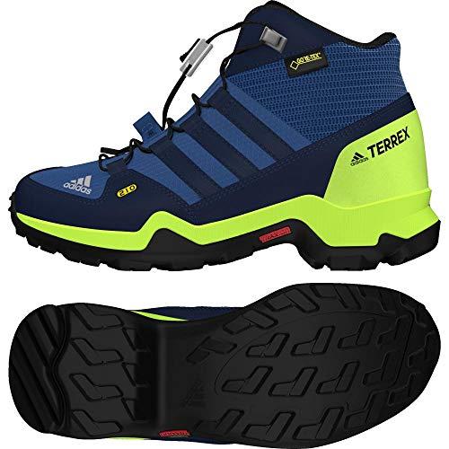 Adidas Terrex Mid GTX K, Chaussures de Randonnée Hautes Mixte Enfant, Bleu (Azretr/Maruni/Limsol 000), 38 EU