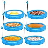 Laelr 6 anillos de huevo, anillos de huevo antiadherentes de