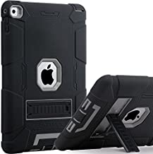 iPad Air 2 Case, BENTOBEN Protective Case for iPad Air 2 - Kickstand 3 in 1 [Soft&Hard] Hybrid Shockproof Heavy Duty Rugged Anti-Slip Scratch Resistant Case Cover, Black/Gray