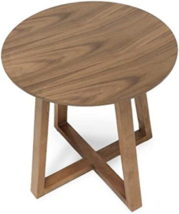 ZR- サイドテーブル、コーヒーテーブル、木製のリビングルームの電話テーブル、シンプルなスナックテーブルと小さな丸テーブル