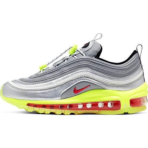 Nike Air MAX 97 Rft (GS) Kids Big Kids Bq8437-002, Plateado (Metallic Silver/Red Orbit-Volt-Black), 37 EU