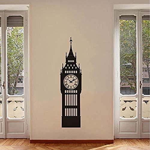 Zbzmm grote wandklok vinyl muur kunst huis R kantoor woonkamer slaapkamer Londen kunst bord Home R30 * 120 cm