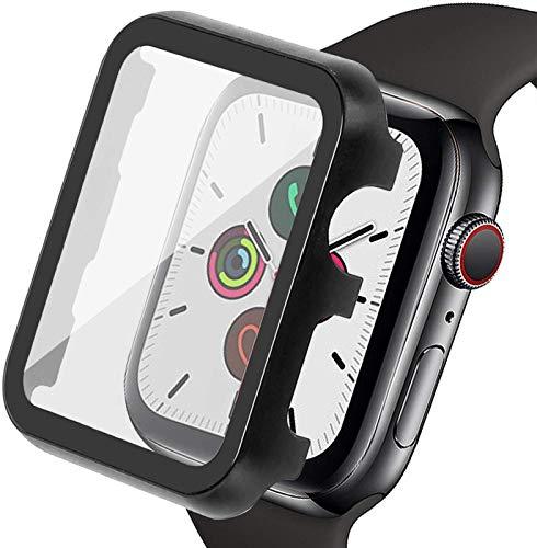 YGGFA Funda Protectora para la Serie de Relojes de Apple 5 4 3 2 1 40/44 / 42 / 38mm con Protector de Pantalla Cubierta de Metal Pet Pet Pet Fino para iWatch