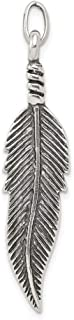 925 Sterling Silver Feather Pendant Charm Necklace Skull Dagger Dragon Man Fine Jewelry For Dad Mens Gifts For Him