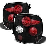 AKKON - For 1999-2004 Chevy Silverado Sierra Stepside Model Black Bezel Tail Lights Rear Brake Driver/Passenger Lamps