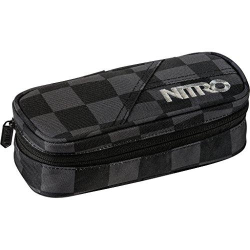 Nitro Pencil Case, Federmäppchen, Schlampermäppchen, Faulenzer Box, Federmappe, Stifte Etui, Checker
