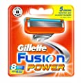 Gillette Fusion Power Dermatologically Tested Manual Razor Blades x 8