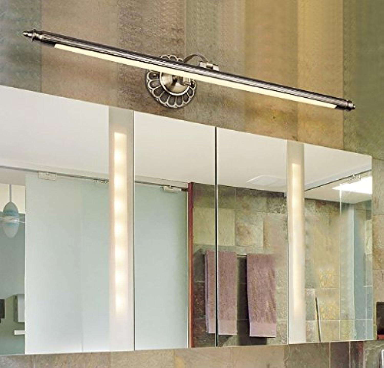Home experience- Amerikanischer Retro Spiegel-vorderes helles LED-weies helles Dresser-Verfassungs-Lampen-Badezimmer-Wand-Spiegel-Scheinwerfer ( Farbe   Bronze-warm-8W 50cm )