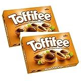 Storck Toffifee chocolats entiers aux noisettes recouverts de caramel à la crème de noisette et chocolat   Noisettes enrobées de chocolat 2 paquets x 125 g
