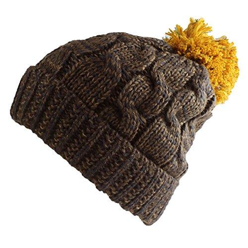 morehats Multi Color Pom Pom Crochet de Punto Slouchy Beanie Boina de Invierno Gorro de esquí