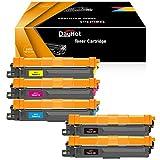 Dayhot TN243 TN247 Cartucho de Tóner Compatible para Brother DCP-L3550CDW HL-L3210CW HL-L3230CDW MFC-L3750CDW HL-L3270CDW MFC-L3770CDW DCP-L3510CDW(2 Negro,1 Ciano,1 Magenta,1 Amarillo)