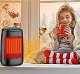 Mini Estufa Eléctrica, Parkarma Calefacción de Cerámica 1200W Calefactor Portátil Eléctrico Rápido de 3s Bajo Consumo con Protección para Oficina/Casa/Garaje/Camper
