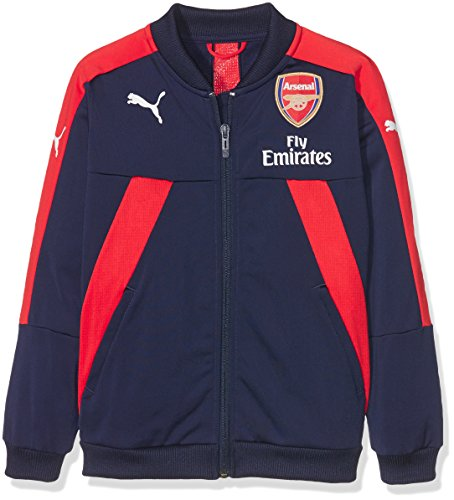 PUMA Kinder AFC Stadium Jacket with Sponsor Logo Jacke, Peacoat-high Risk red, 128