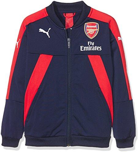 PUMA Kinder AFC Stadium Jacket with Sponsor Logo Jacke, Peacoat-high Risk red, 128