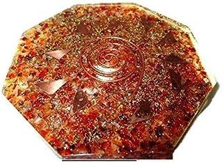 Carneool Octagon Vastu Plaat Energie Generator Crystal Edelstenen Unieke Zeldzame Wetenschap Bouw Vedische Astrologie Rijk...