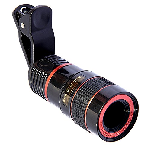 VANVENE Telephoto Phone Lens, Farktop 8x Optical Telescope Lens with Ultra Strong Clip for iPhone 7 6 6s Plus Samsung Galaxy S7 S6 and other Smartphone, Tablet