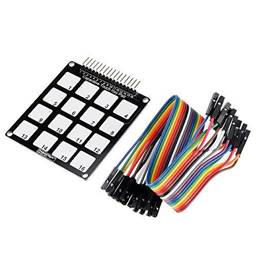 YI-WAN 16 Keys Capacitive Touch Key Pad Module Accessory Adaptation Parts