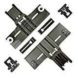 6 Pcs W10350375(2pc) W10195839(2pc) W10195840(2pc) UPGRADED Dishwasher Top Rack Adjuster Compatible with Whirlpool Kitchenaid Kenmore Replaces AP5957560 W10712395 W102501593516330 W10712395VP