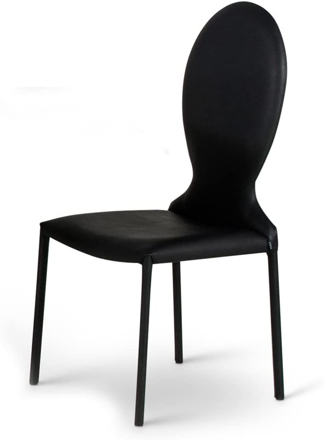 Zuri Modern Montez Superior Rounded Dining Leatherette in Chair Spring new work one after another Black