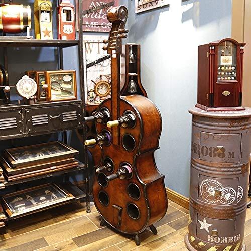 N/W LJG Holz Kreative Cello Weinregal Große Rack-Kapazität: 10 Flaschen Wein LJG