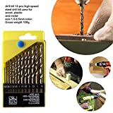 DeoDap Stainless Steel Professional Tool- Drill Bit Set Combos for Wood, Malleable Iron