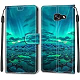 YKTO Etui en PU Cuir Coque pour Samsung Galaxy A5 2017/A520 Flip Folio Housse Magnétique Aurore...