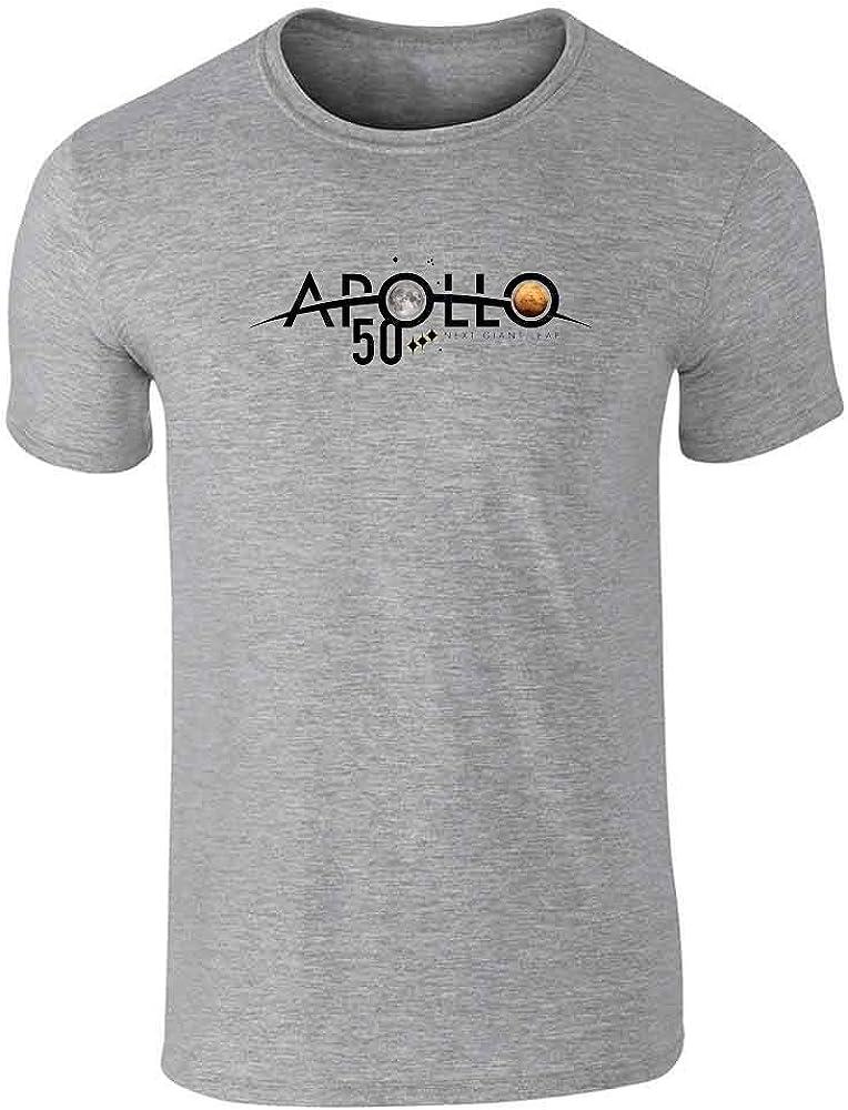 NASA Approved Apollo Next Giant Leap 50th Logo Gray 2XL Graphic Tee T-Shirt for Men