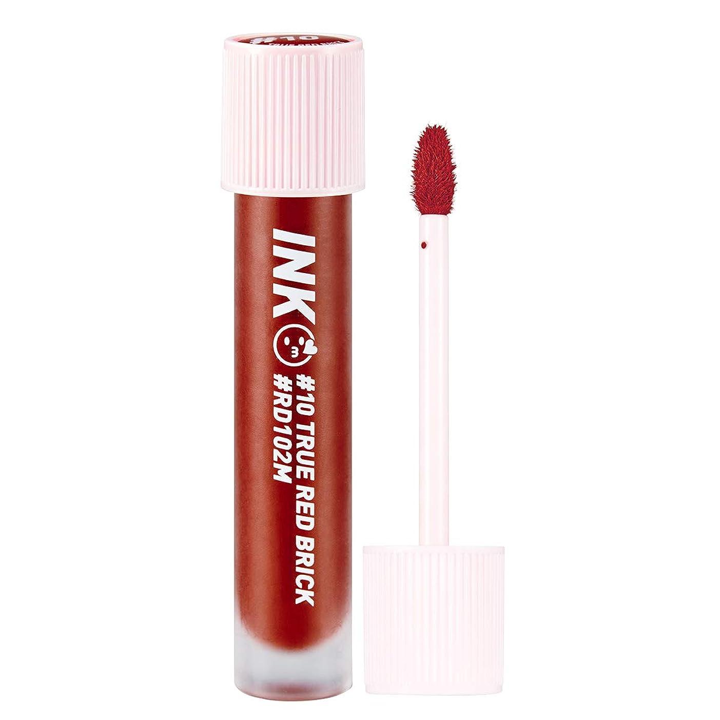 服を洗う慎重貝殻ペリペラ インク マット ブラー ティント 3.8g / PERI PERA Ink Matte Blur Tint (#10. True Red Brick) [並行輸入品]
