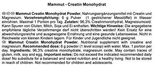 Mammut Creatin Monohydrat, magnesiumoptimiert, 300 g Dose - 5