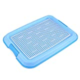 Petforu Dog Training Trays, Pet Toilet Training Pad Holder [Blue + White]