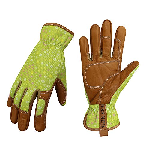 DIAN SHANG® 耐熱キャンプグローブ 防水牛革手袋 防寒グローブ 裏付き アウトドア 革手袋 (XL)