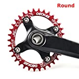 Grofitness, corona singola per mountain bike in alluminio, diametro bulloni 104 mm, Red, 3...