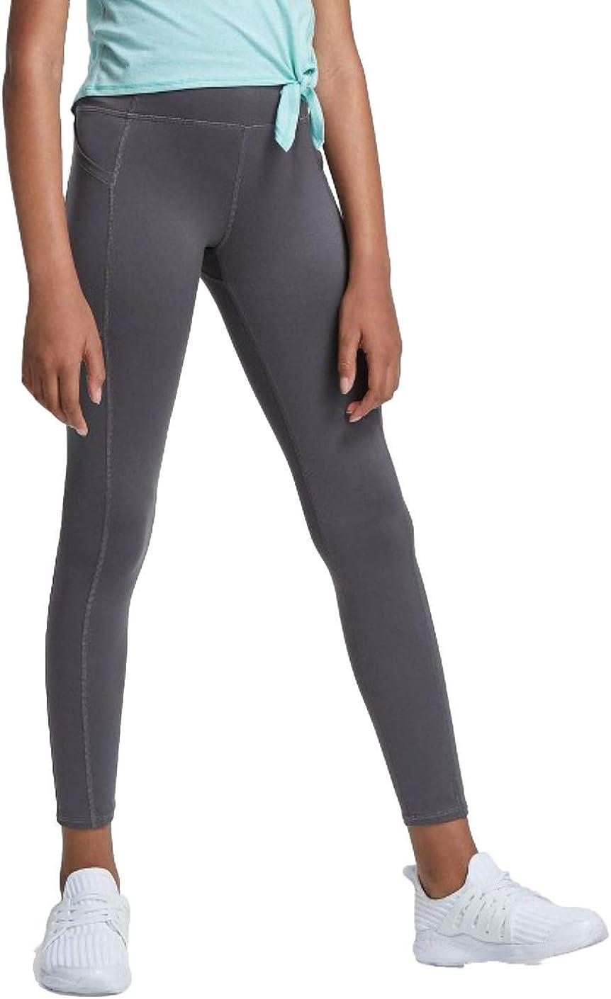 All in Motion Girls' Side Pocket Leggings - Gray -