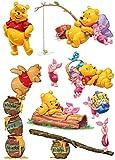 Large Winnie The Pooh Cartoon Anime Laptop Car Travel Trolley Case Waterproof Sticker