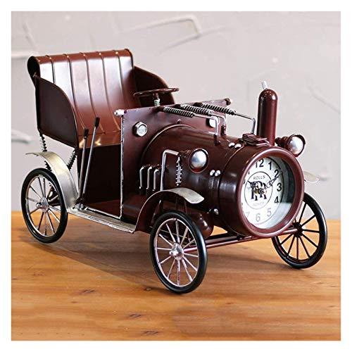 ZJSXIA Oldtimer Autositz Uhr Dekoration Dekoration Home Weiche Dekoration Kreative Handwerk Set Up Set Clock Digitale wanduhr (Color : Red)