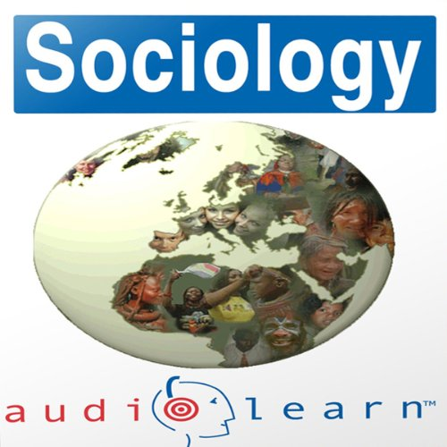 Sociology AudioLearn Study Guide audiobook cover art
