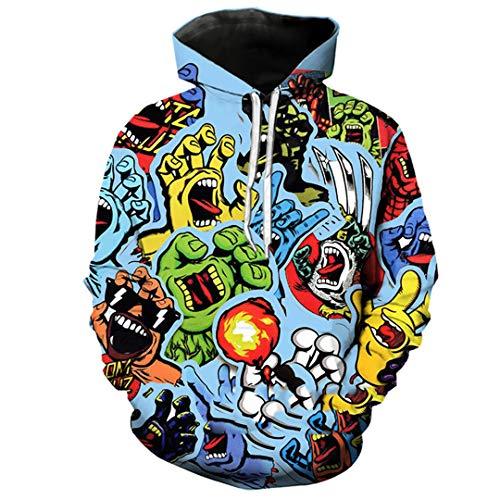 Hombres Chaleco 3D Impreso Streetwear Hoody Moda Hoodies Pullover Hoodie 3 XXXL