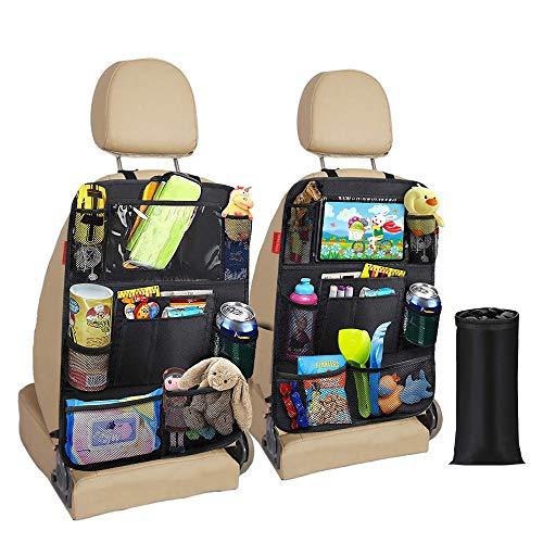 Awroutdoor Auto Rückenlehnenschutz, 2 Stück Wasserdicht Auto Rücksitz Organizer für Kinder,Rücksitzschoner Kick-Matten-Schutz für mit Durchsichtigem iPad-Tablet-Halter