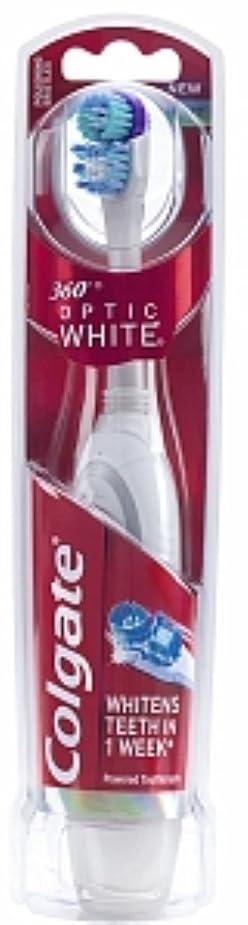遠えグリット暗唱するColgate 360オプティックホワイトバッテリ駆動歯ブラシ、ソフト1 Eaは(6パック)