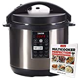 Zavor LUX 8 Quart Multi-cooker with America's Test Kitchen Multicooker Perfection Cookbook, Stainless Steel